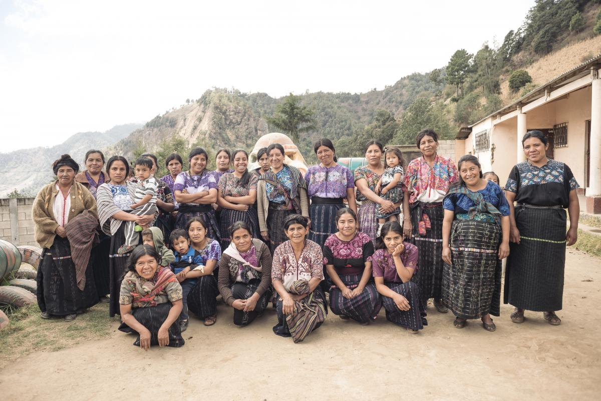 Gruppe Mutter und Kinder in Guatemala
